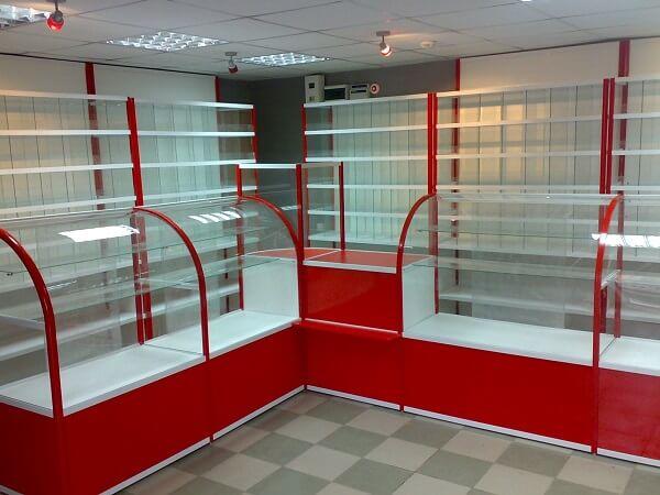 Красная витрина на заказ