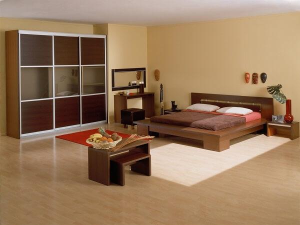 Мебельный комплект для гостинице в этно-стиле на заказ