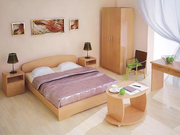 Мебельный комплект для гостиницы с двухспальной кроватью на заказ